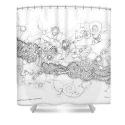 Complex Fluid  Shower Curtain
