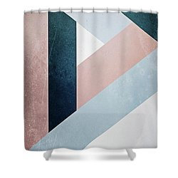 Complex Triangle Shower Curtain