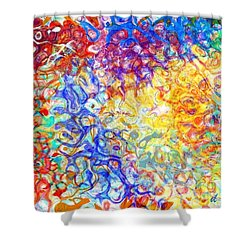 Complexities 5 Shower Curtain