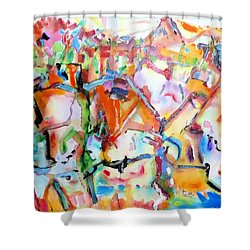 Complicated Landscape Shower Curtain