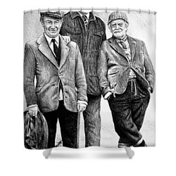Compo Clegg And Foggy 2 Shower Curtain