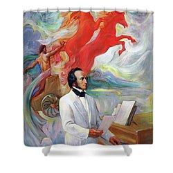Composer Felix Mendelssohn Shower Curtain