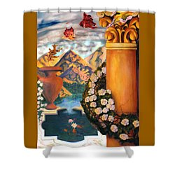 Shower Curtain featuring the painting Composite by Thomas Lupari
