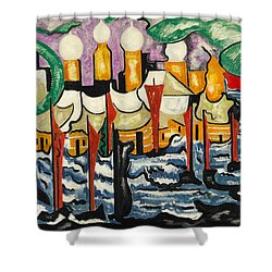 Shower Curtain featuring the painting Composition No.62 by Jacoba van Heemskerck