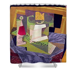 Composition On A Table Shower Curtain by Juan Gris