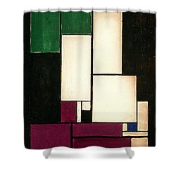 Composition Shower Curtain by Theo van Doesburg