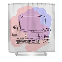 Computer Shower Curtain
