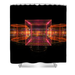 Computer Generated 3d Abstract Fractal Flame Modern Art Shower Curtain by Keith Webber Jr