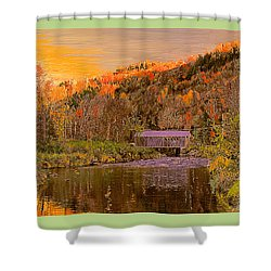 Comstock Bridge Shower Curtain by John Selmer Sr
