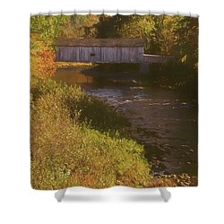 Comstock Covered Bridge Shower Curtain