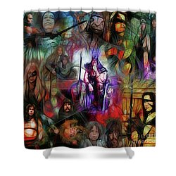 Conan The Barbarian Collage - Square Version Shower Curtain