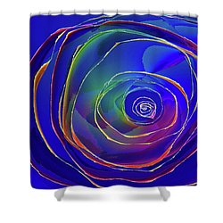Concentric Shower Curtain by Alexis Baranek