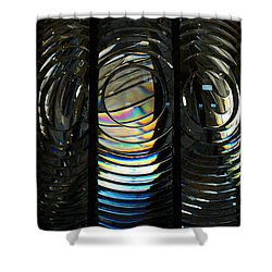 Concentric Glass Prisms - Water Color Shower Curtain by Linda Shafer