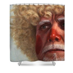 Concerned Shower Curtain by James W Johnson