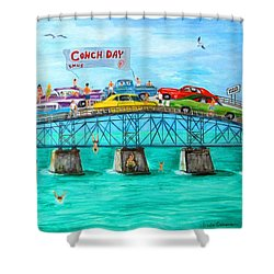 Conch Day Shower Curtain