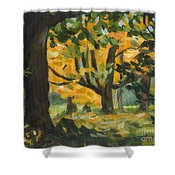 Concord Fall Trees Shower Curtain
