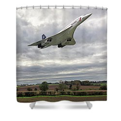 Shower Curtain featuring the photograph Concorde - High Speed Pass_2 by Paul Gulliver