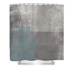 Concrete 3- Contemporary Abstract Art By Linda Woods Shower Curtain
