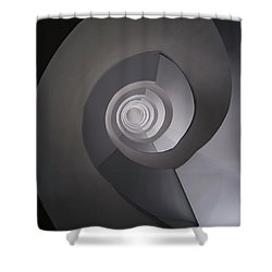 Concrete Abstract Spiral Staircase Shower Curtain by Jaroslaw Blaminsky