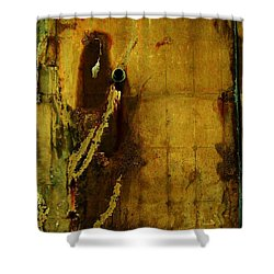 Concrete Canvas Shower Curtain by Reb Frost