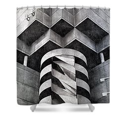 Concrete Geometry Shower Curtain