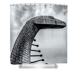 Concrete Serpent Shower Curtain