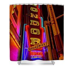 Condor Neon On Broadway Shower Curtain