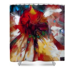 Cone Flower Fantasia I Shower Curtain