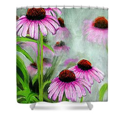 Coneflowers In The Mist Shower Curtain