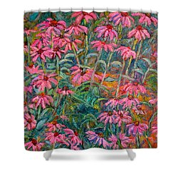 Coneflowers Shower Curtain by Kendall Kessler