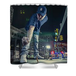 Shower Curtain featuring the photograph Coney Anyone? by Nicholas Grunas