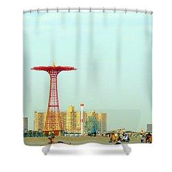 Coney Island Amusement Park Shower Curtain