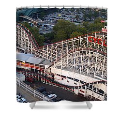 Coney Island Cyclone Shower Curtain