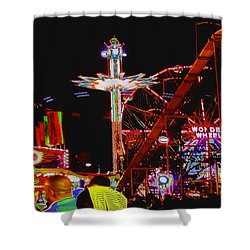 Coney Island Opening Day In Brooklyn New York Shower Curtain