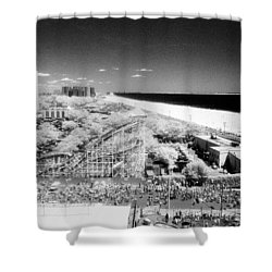 Shower Curtain featuring the photograph Coney Island View 7 by Dave Beckerman