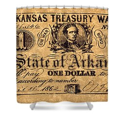 Confederate Banknote Shower Curtain by Granger
