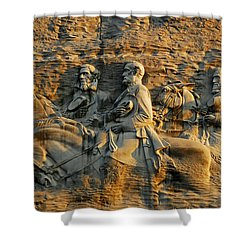 Confederate Carvings Shower Curtain