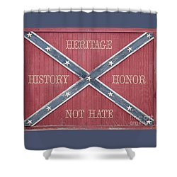 Confederate Flag On Wooden Door Shower Curtain