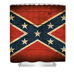 Confederate Flag Shower Curtain by Taylan Apukovska