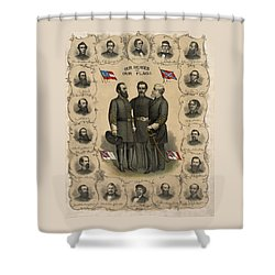 Confederate Generals Of The Civil War Shower Curtain