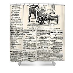 Confederate Newspaper Shower Curtain by Granger