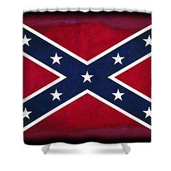 Confederate Rebel Battle Flag Shower Curtain by Daniel Hagerman