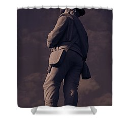 Confederate Statue Shower Curtain