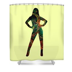 Confident Shower Curtain by Anastasiya Malakhova