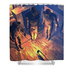 Confronted By Malignant Forces Shower Curtain
