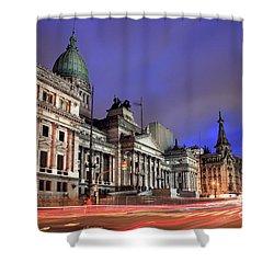 Shower Curtain featuring the photograph Congress  by Bernardo Galmarini