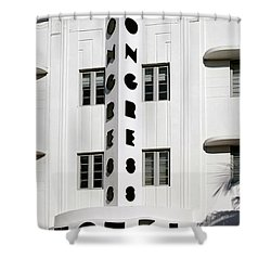 Congress Hotel. Miami. Fl. Usa Shower Curtain