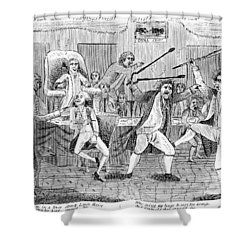 Congressional Pugilists Shower Curtain by Granger
