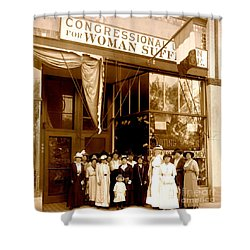 Congressional Union For Woman Suffrage Colorado Headquarters 1914 Shower Curtain