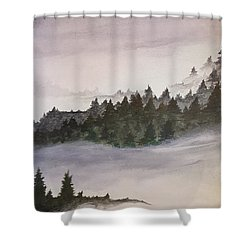 Coniferous Forest Shower Curtain